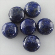 2 Lapis round loose cut cabochon gemstones (N) Approximate size 8mm, 7.8 to 8mm
