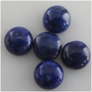 2 Lapis brighter blue round loose cut cabochon gemstones (N) Approximate size 8mm, 7.7 to 8mm