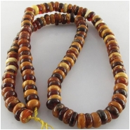 Amber Baltic knotted rondelle gemstone beads (N) Approximate size range 7.1 to 8.1mm 18 inch