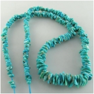 Turquoise Campitos graduated flat nugget gemstone beads (S) Approximate size 3.1 x 3.5mm to 6.4 x 9.6mm 18 inch