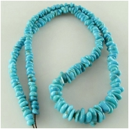 Turquoise Campitos graduated nugget gemstone beads (S) Approximate size 3.8 x 4.2mm to 6.8 x 9.5mm 18 inch
