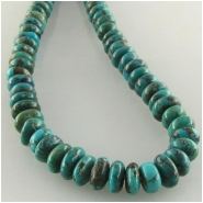 Turquoise Hubei rondelle gemstone beads (S) Approximate size 6mm 15.8 inch