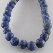 Lapis round matte finish gemstone beads (N) Approximate size 6mm 15.2 inch
