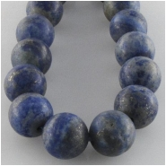 Lapis round matte finish gemstone beads (N) Approximate size 8mm 7.8 inch