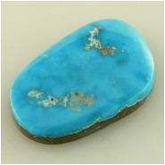 1 Turquoise Morenci cabochon gemstone (N) Approximate size 14.9 x 22.6 x 4.2mm deep