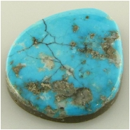 1 Turquoise Morenci cabochon gemstone (N) Approximate size 20.7 x 23.8 x 5mm deep