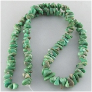 Variscite graduated nugget gemstone beads (S) Approximate size 4 x 7mm to 7 x 13mm 18 inch