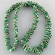 Variscite graduated nugget gemstone beads (S) Approximate size 3.7 x 7mm to 5.5 x 15mm 18 inch