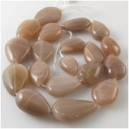 Moonstone old stock graduated one direction drop gemstone beads (N) Approximate size 10 x 14mm to 15 x 24mm 14 inch