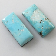 2 Turquoise Morenci 2nds cabochon gemstones (N) Approximate size 12.1 x 26.5mm and 12.7 x 25.8mm
