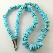 Turquoise Sleeping Beauty graduated nugget gemstone beads (N) Approximate size 7 x 7mm to 17 x 20mm 24 inches