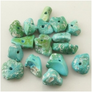 1 Turquoise Sleeping Beauty green blue nugget gemstone bead (N) Approximate size 10 x 12mm to 13 x 19mm