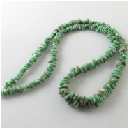 Variscite Utah graduated nugget gemstone beads (S) Approximate size 2.7 x 4.1mm to 4.4 x 8.8mm 18 inch