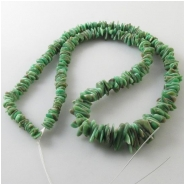 Variscite Utah graduated flat nugget gemstone beads (S) Approximate size 3.5 x 5.2mm to 7 x 10mm 18 inch