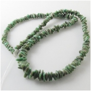 Variscite Utah graduated nugget gemstone beads (S) Approximate size 3.4 x 3.5mm to 5.2 x 11mm 18 inch