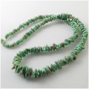 Variscite Utah graduated nugget gemstone beads (S) Approximate size 4.1 x 4.2mm to 6 x 11mm 18 inch