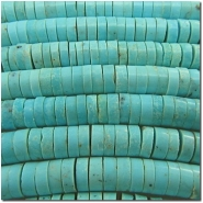 Turquoise Campitos A heishi gemstone beads (S) 5 to 5.2mm