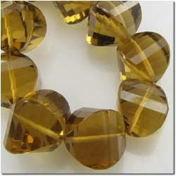 1 Cognac Quartz faceted onion gemstone bead (N) 9mm CLOSEOUT
