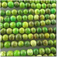 Turquoise Chinese yellow green round gemstone beads (DS) 3.5 to 3.8mm CLOSEOUT