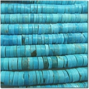 Turquoise Sleeping Beauty A heishi gemstone beads (S) 5.5 to 6mm