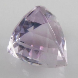1 Amethyst pink faceted pyramid cut briolette AAA gemstone bead (N) 9mm CLOSEOUT