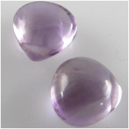 2 Amethyst lavender drop briolette AAA gemstone beads (N) 7mm to 7.6mm CLOSEOUT