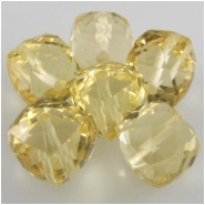 1 Citrine faceted cube gemstone bead (H) 6mm CLOSEOUT