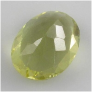 1 Lemon Quartz faceted oval gemstone pendant bead (H) 17mm to 18mm CLOSEOUT