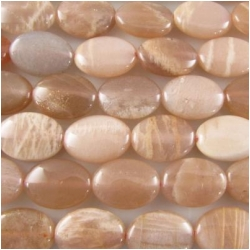 Moonstone oval gemstone beads (N) 10 x 14mm CLOSEOUT