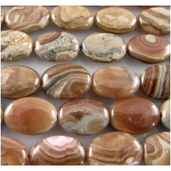 15 Rhodochrosite brown oval gemstone beads (N) 9.5 x 13mm CLOSEOUT