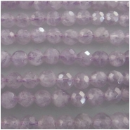 Amethyst lavender faceted round gemstone beads (N) Approximate size range 4.3 to 4.7mm 15.5 inch
