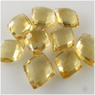 1 Citrine AA faceted kite briolette gemstone bead (H) 8 x 10mm to 9 x 10.9mm Top side drilled