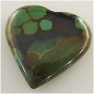 1 Turquoise Hubei heart pendant gemstone bead (S) Approximate size 40mm 9mm thick Bale hole on top
