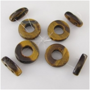4 Tiger Eye bail and toggle clasps gemstones (N) Approximate size 20mm bail 9mm inside diameter  5 x 8 x 20mm toggle two 2.5mm holes on bale and toggle