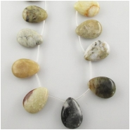 Fire New Jade Serpentine plain drop briolette pendant gemstone beads (N) Approximate size 18 x 25mm 15.3 inch CLOSEOUT