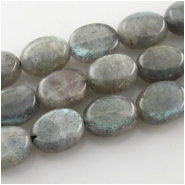 Labradorite oval gemstone beads (N) Approximate size  8 x 10mm 15.5 inch Good flash
