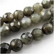 Labradorite B faceted round gemstone beads (N) Approximate size 8mm 15 inch