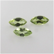 10 Peridot faceted marquise loose cut gemstones (N) Approximate size 2 x 4mm