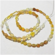 Ethiopian opal oval B gemstone beads (N) Approximate size 4.5 x 5mm to 5.6 x 8mm 17 inch