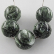 5 Seraphinite AA round gemstone beads (N) Approximate size 10mm