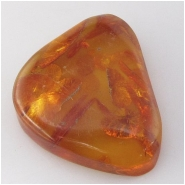 Amber Baltic with organic inclusions gemstone (N) Approximate size 27 x 35mm Not drilled