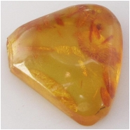 Amber Baltic with organic inclusions gemstone (N) Approximate size 25 x 29mm Not drilled
