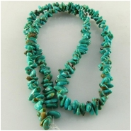 Turquoise Carico Lake small nugget chip gemstone beads (N) Approximate size 3 x 4mm to 3.5 x 5.5mm 18 inch