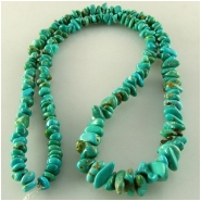 Turquoise Carico Lake graduated nugget chip gemstone beads (N) Approximate size 4 x 5mm to 7 x 11mm 18 inch