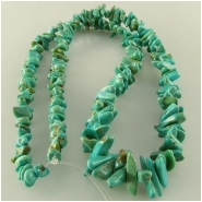 Turquoise Carico Lake graduated nugget chip gemstone beads (N) Approximate size 4 x 4mm to 6 x 12mm 18 inch