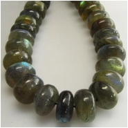 Labradorite AA rondelle gemstone beads (N) Approximate size 11mm 10.7to 11.6mm  13 inch