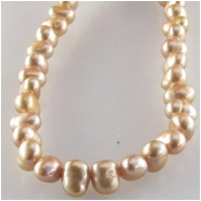 Pearls keishi beige center drilled gemstone beads (D) Approximate size 4 x 5mm 16 inch