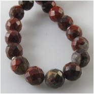 Breciated Jasper faceted round gemstone beads (N) Approximate size 8mm 15.5 inch