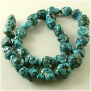 Turquoise Hubei old stock web nugget gemstone beads (N) Approximate size 10 x 10mm to 11 x 16mm 15.5 inch