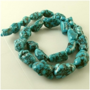 Turquoise Hubei old stock web nugget gemstone beads (N) Approximate size 10 x 12mm to 11 x 20mm 15.5 inch